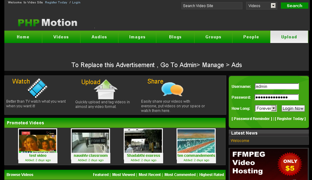PHPmotion Free Templates http://freetemplates.bizhat.com/phpmotiontemplates/